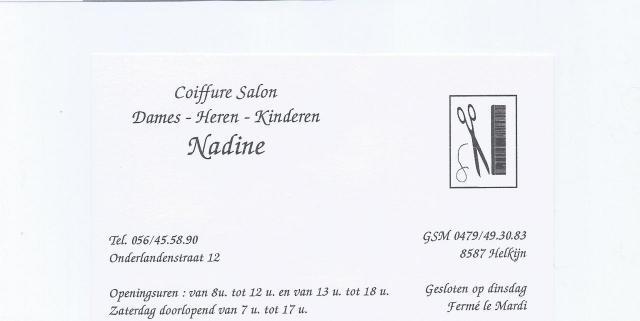 coiffeuse Nadine